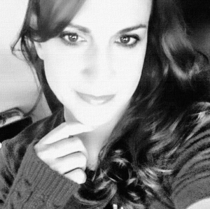 Black and white photo of Allie Therin.